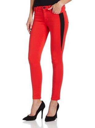 50% OFF Joe's Jeans Women's Oblique Inset Skinny Jean (Bright Red)