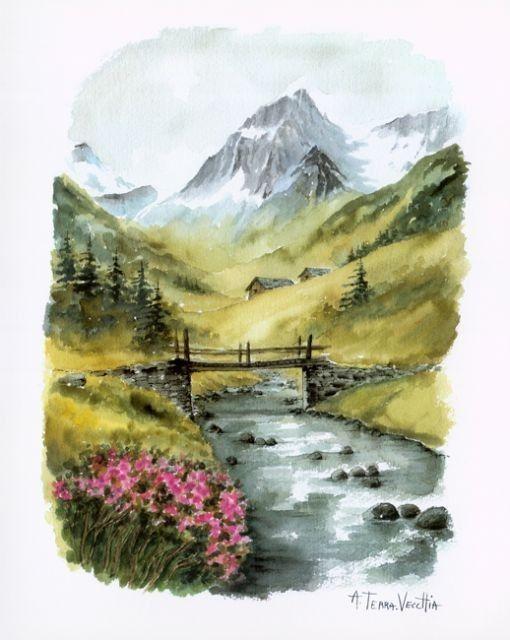La Vie En Montagne Terra Vecchia Dessin Paysage Dessin