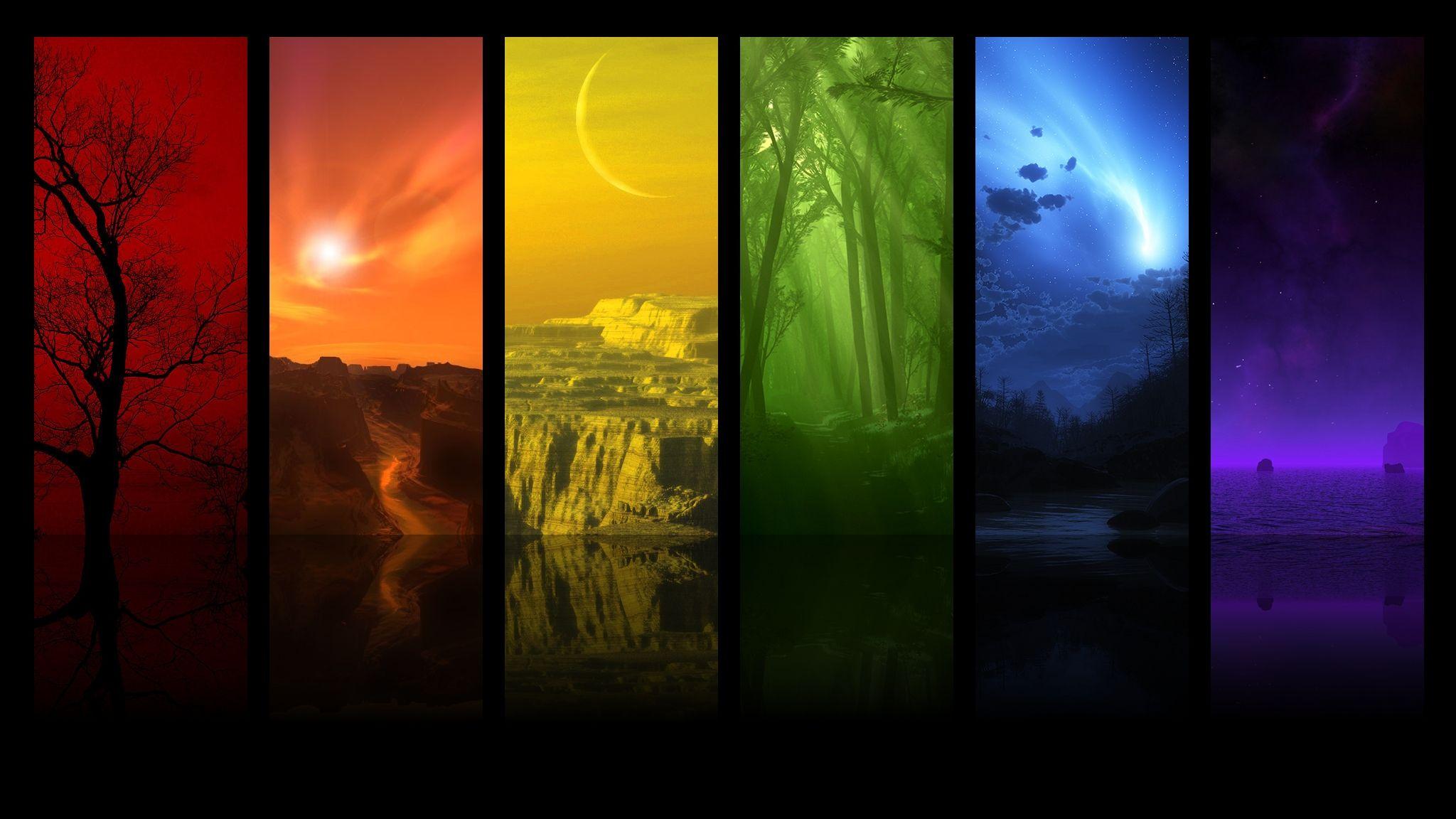 Spectrum Of The Sky Wallpapers Spectrum Wallpaper Color