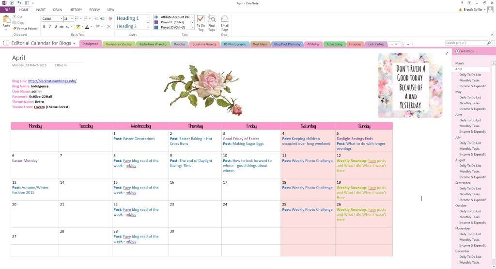 Onenote Daily Planner Template Fresh How To Use Onenote To Create A Gorgeous Planner One Note Microsoft One Notes Daily Planner Template