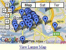 Sights of Rotterdam map | Rotterdam, Rotterdam map, Map
