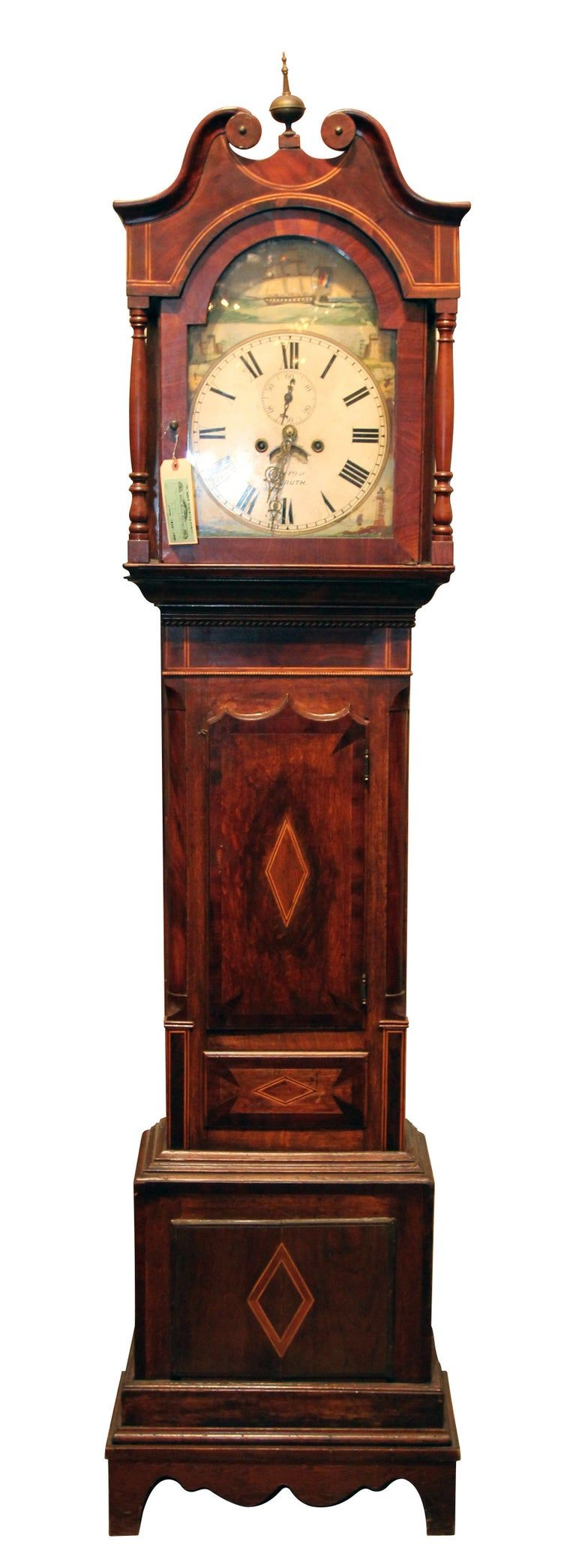 Early 1800s Grandfather Tall Case Clock by Pembroke Renroth