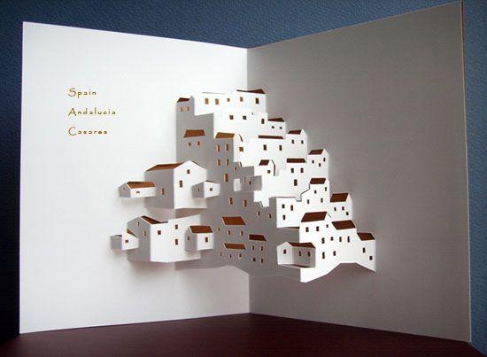 Imagenes De Origamic Architecture Free Templates Kirigami Papier Decoupe Papier Carton