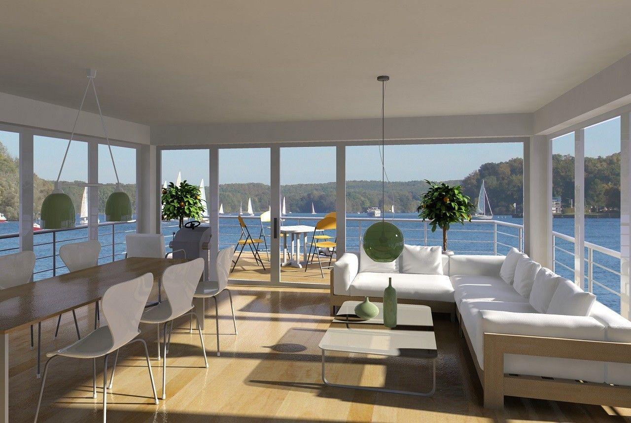 Nautic living electric houseboats dream house pinterest