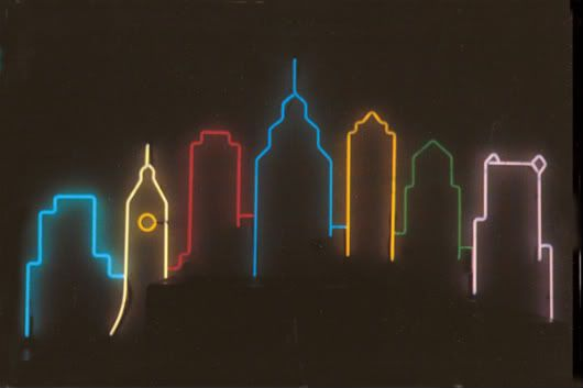 I Want This Tattoo Skyline Tattoo Light Display Neon Signs