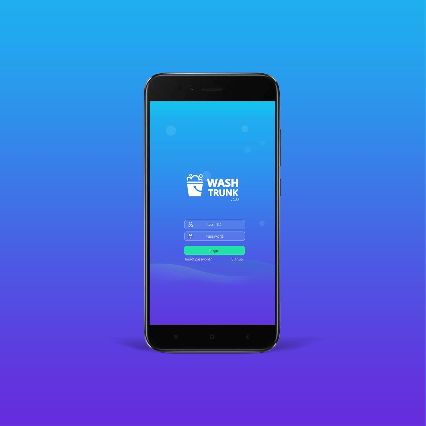 """Check out my Behance project """"Wash Trunk Android App UX"""