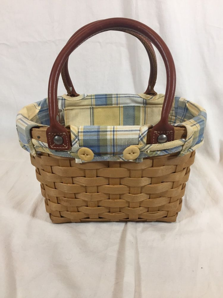 FLAX TAN FABRIC LINER ONLY Teaspoon Longaberger NO BASKET New