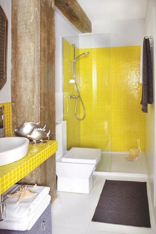 El amarillo es pura vida y color ba os llenos de color - Decoraciones de cuartos de bano ...
