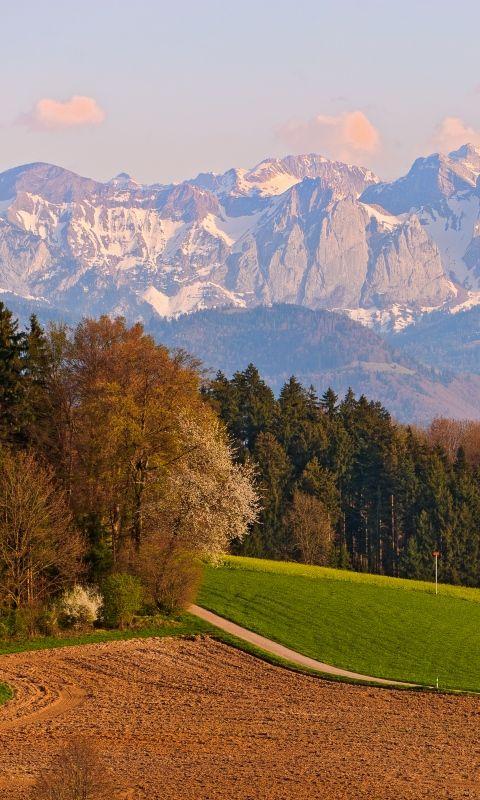 480x800 Wallpaper switzerland, mountains, landscape, sky, autumn
