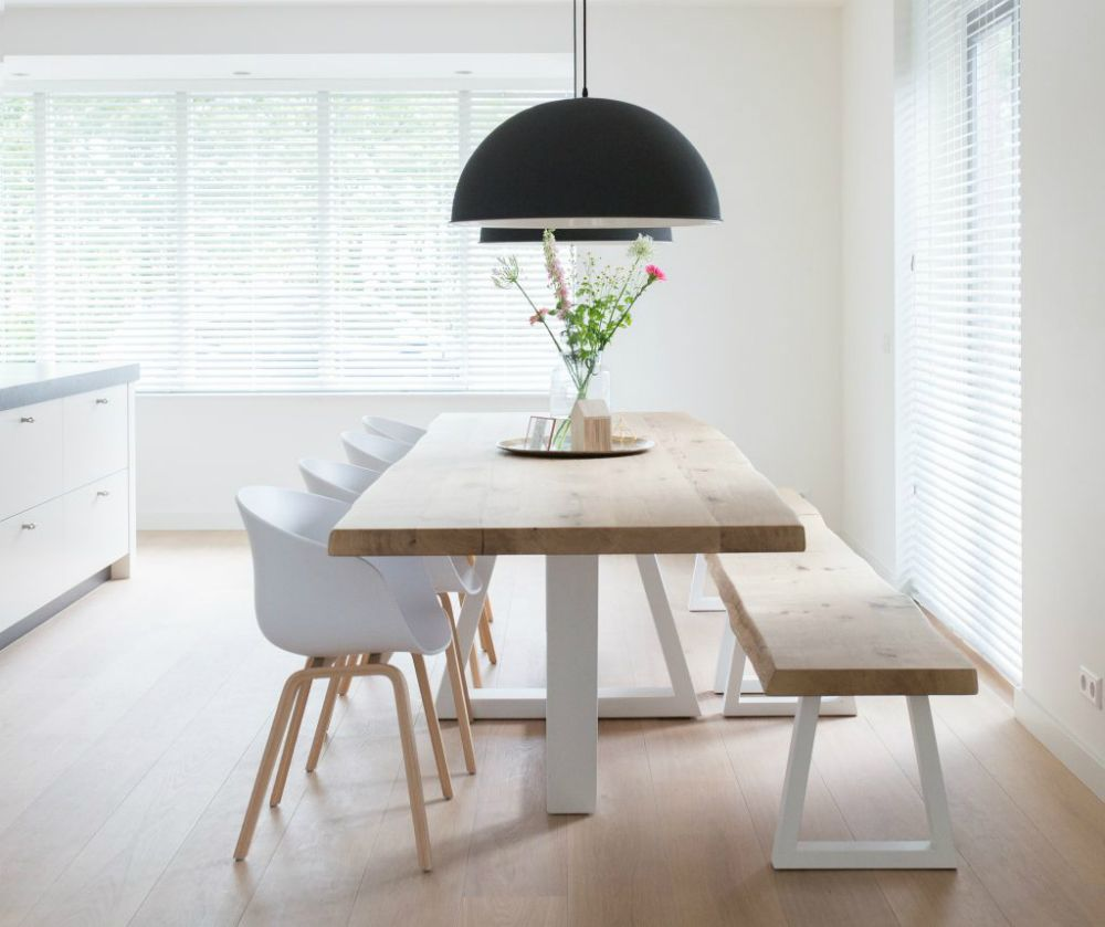 Simple Dining Room Design: Simple Wooden Bench In 2019