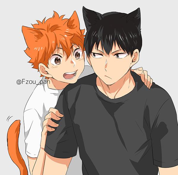 Kagehina Kitty Bois Kagehina Cute Haikyuu Anime Kagehina