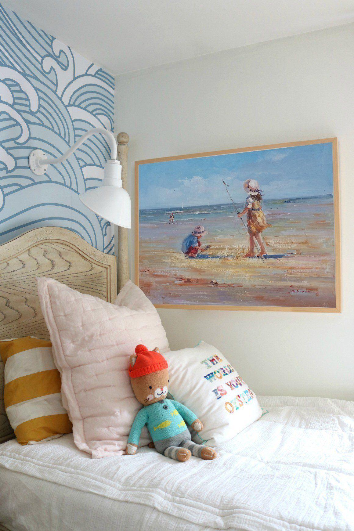 Original Beach Oil Painting Small Wall Art Beach Decor Beach House