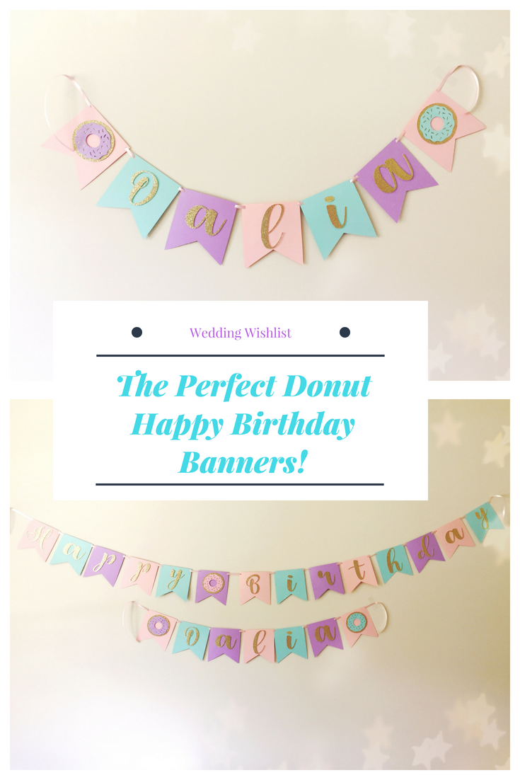 donut happy birthday banner donut name banner donut birthday