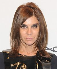 Medium Straight Hairstyles Carine Roitfeld Medium Straight Casual Hairstyle  Medium Brunette