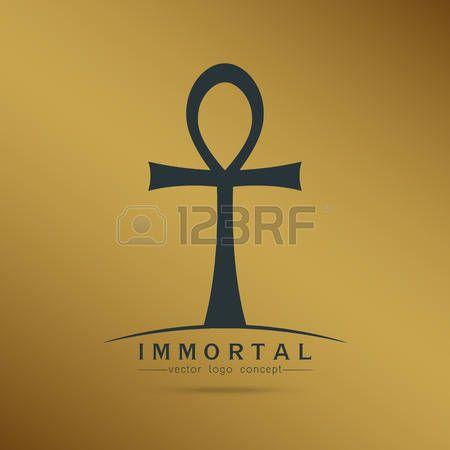 Tatouage egypt symbole de immortel ankh croix gyptienne de pharaons illustration vectorielle - Symbole amerindien tatouage ...