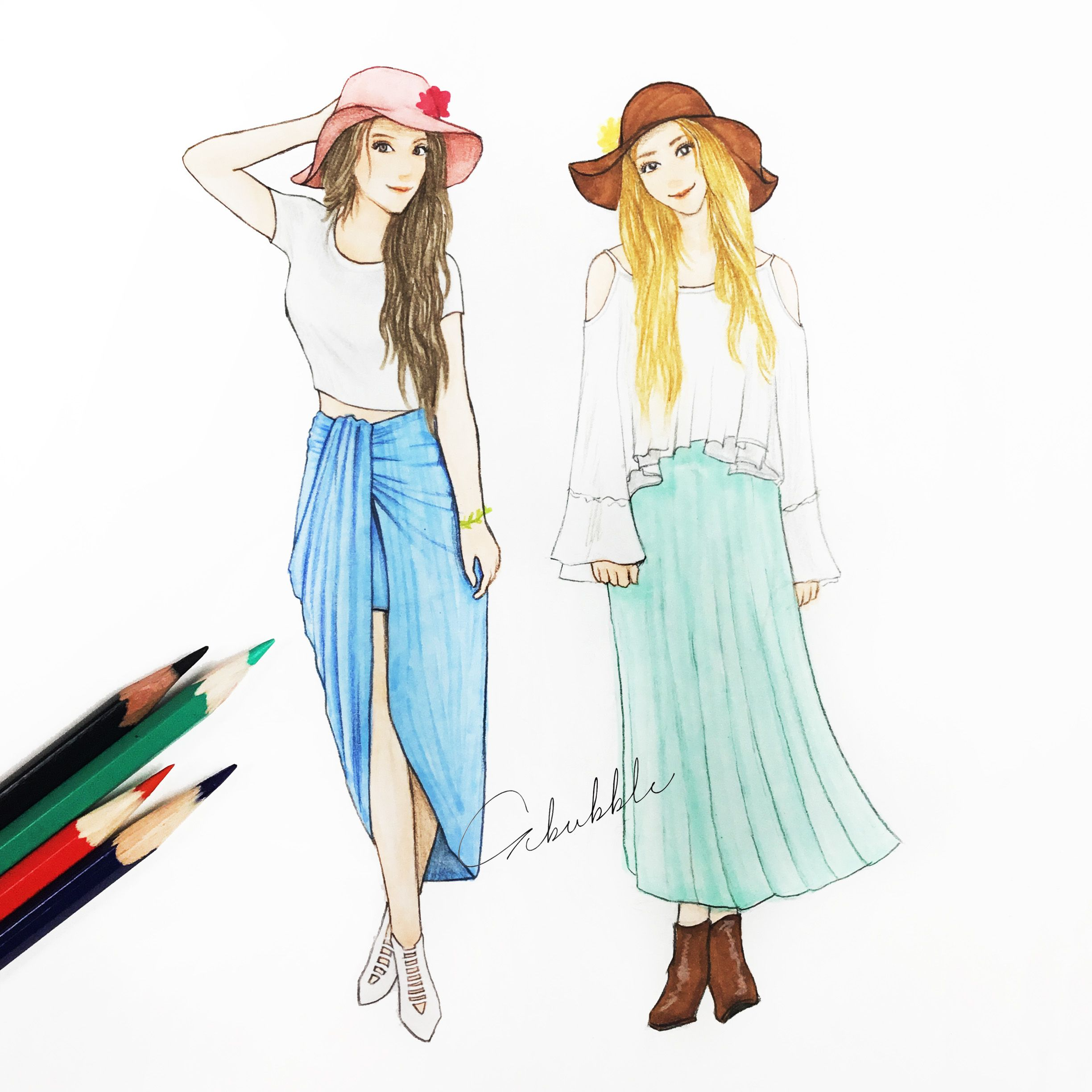 Beautiful dresses | Best Friends Forever | Bff drawings ...