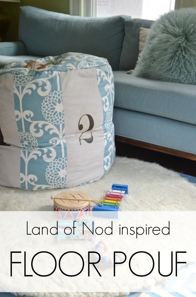 waverize it land of nod inspired pouf diy ottoman floor pouf diy furniture sewing projects. Black Bedroom Furniture Sets. Home Design Ideas