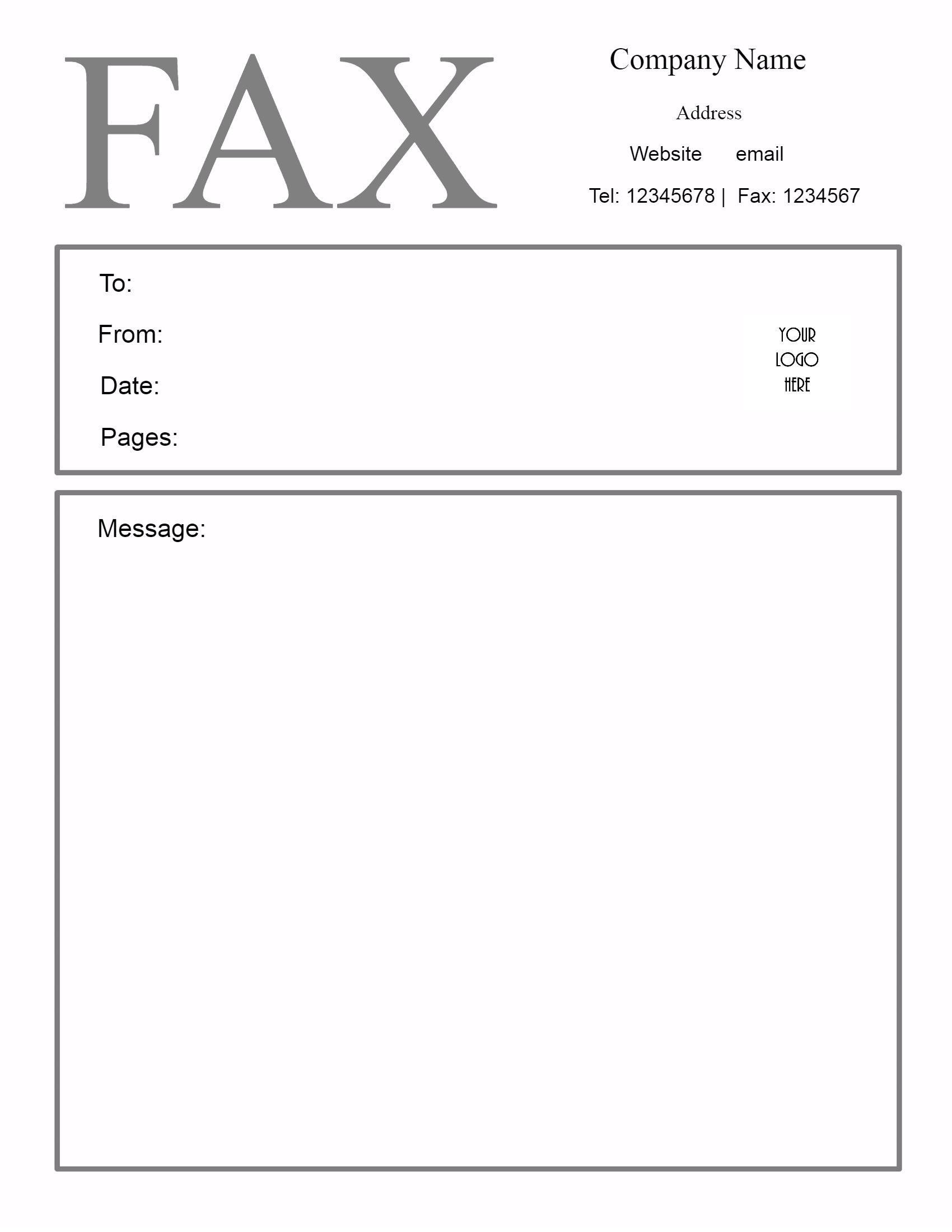 Personal Fax Cover Sheet HttpCalendarprintablehubComFaxCover