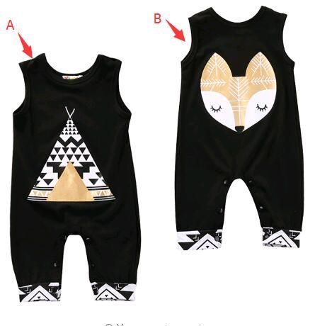 7b42880961a Newborn Kids Baby Boy Girl Fox Romper Playsuit Babygrows Cotton Jumpsuits  Clothes Outfits