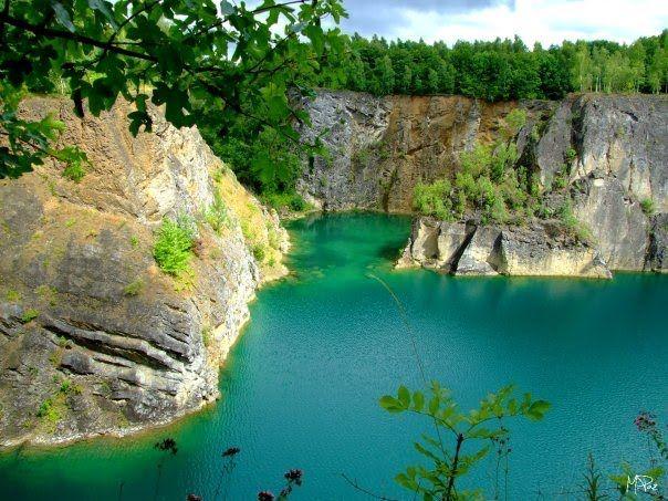 Marble quarry Carrire de Floreffe Namur province Belgium Photo