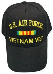 078d33125b48e9 US Air Force Vietnam Vet Baseball Cap Black Military Veteran Hat ...