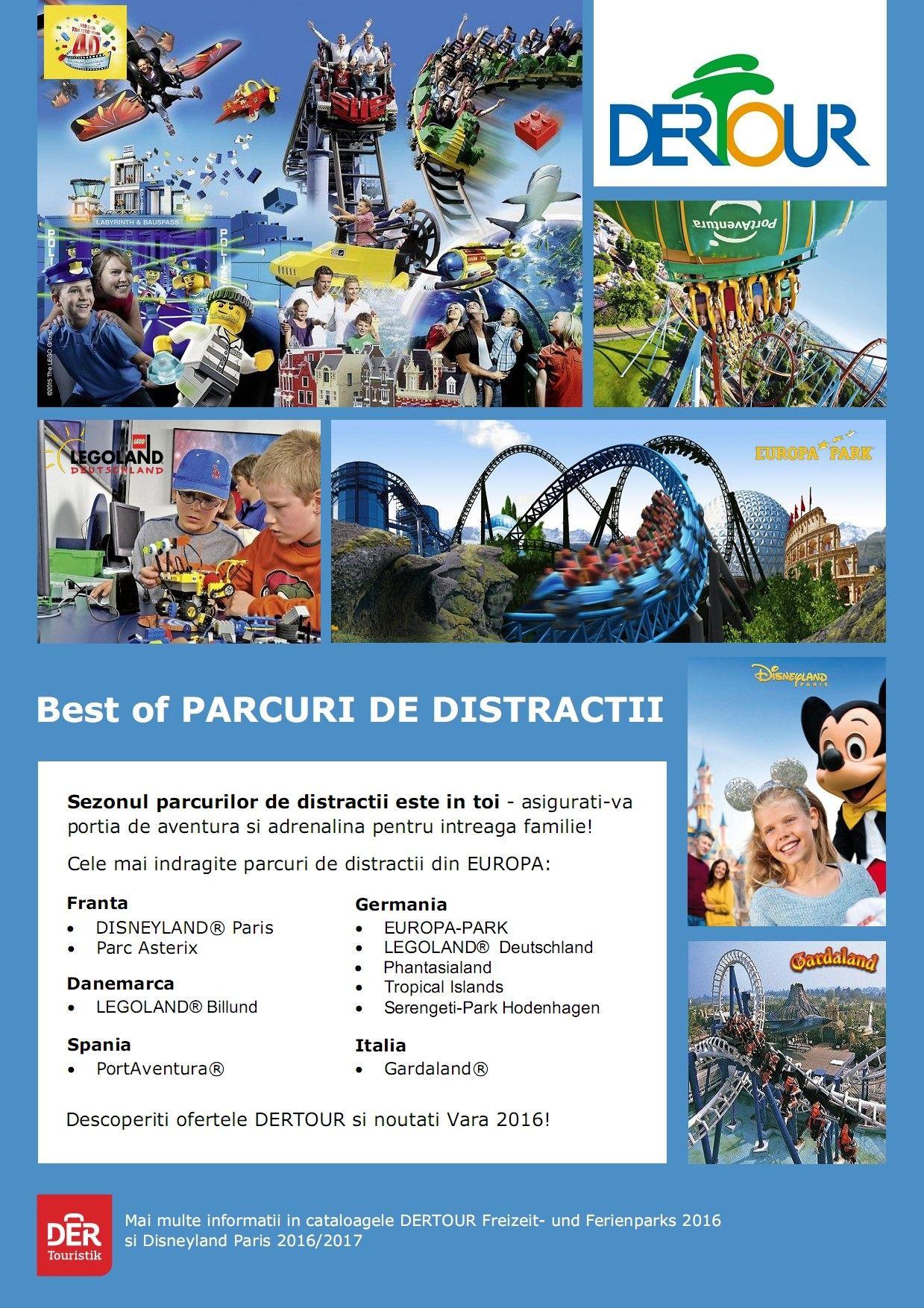 Sezonul parcurilor de distractii este in toi! Best of PARCURI DE DISTRACTII - International, Europa - Rezerva acum! http://bit.ly/1MEYn6t