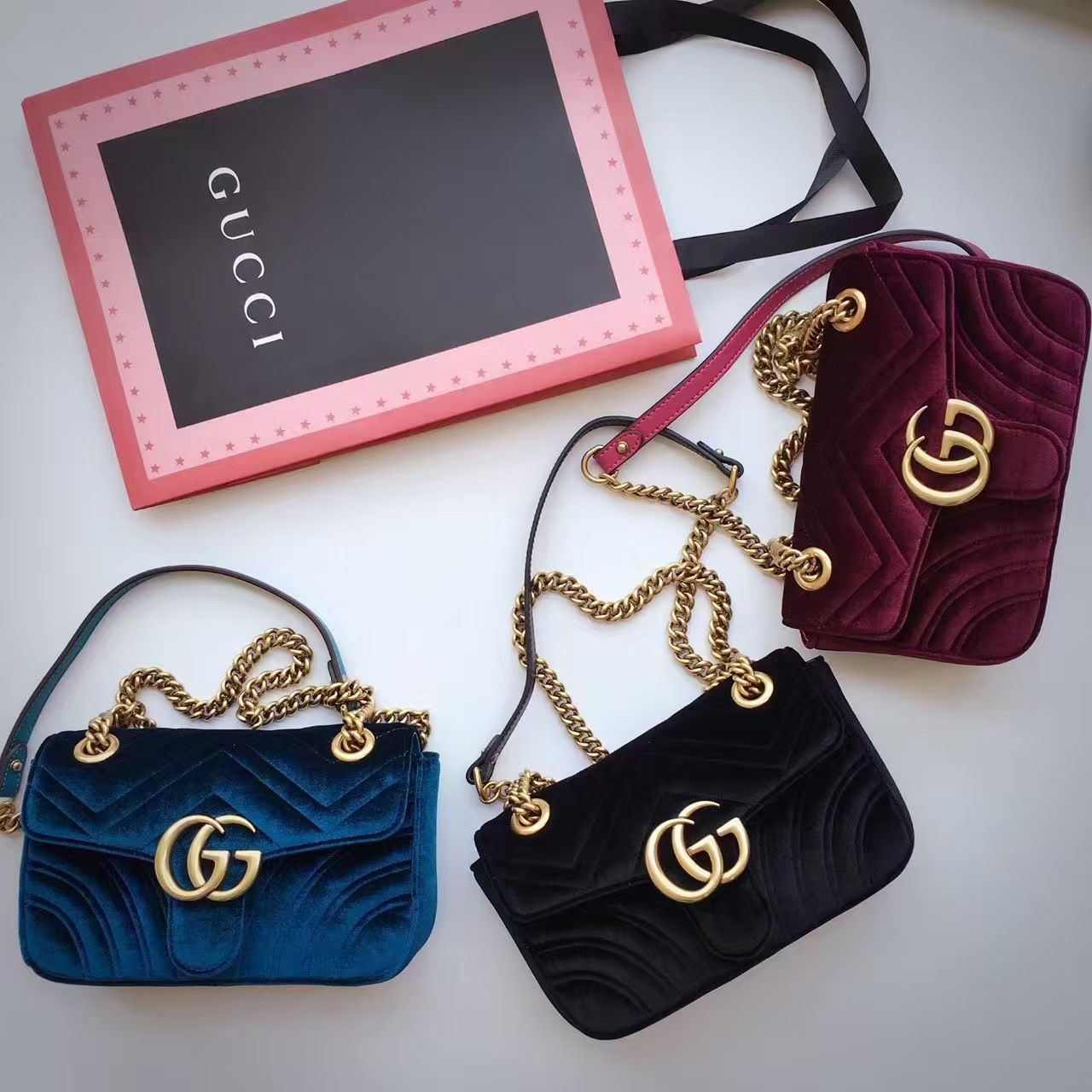 35e6ad3ace3  218 Gucci GG Marmont Velvet Mini Shoulder Bag 443497 2016 Email   winnie shoescrazy.net  handbag  tradee app