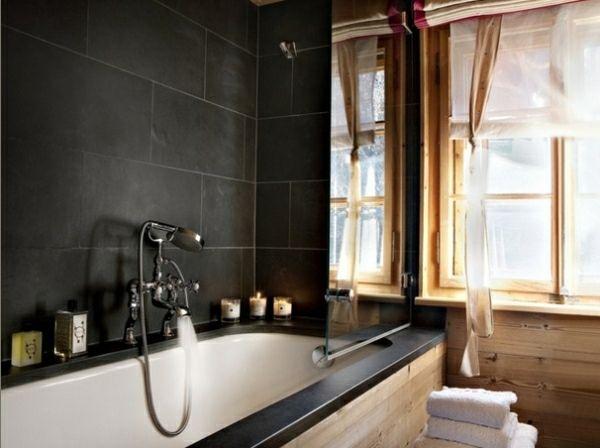 Chalet rustique : 75 idées d\'aménagement avec style | Carrelage ...