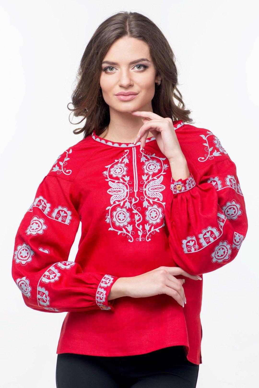 Жіноча вишиванка (755) Ця модель вишитої сорочки ідеально підійде для  яскравих та сміливих жінок aac64c618b2d3