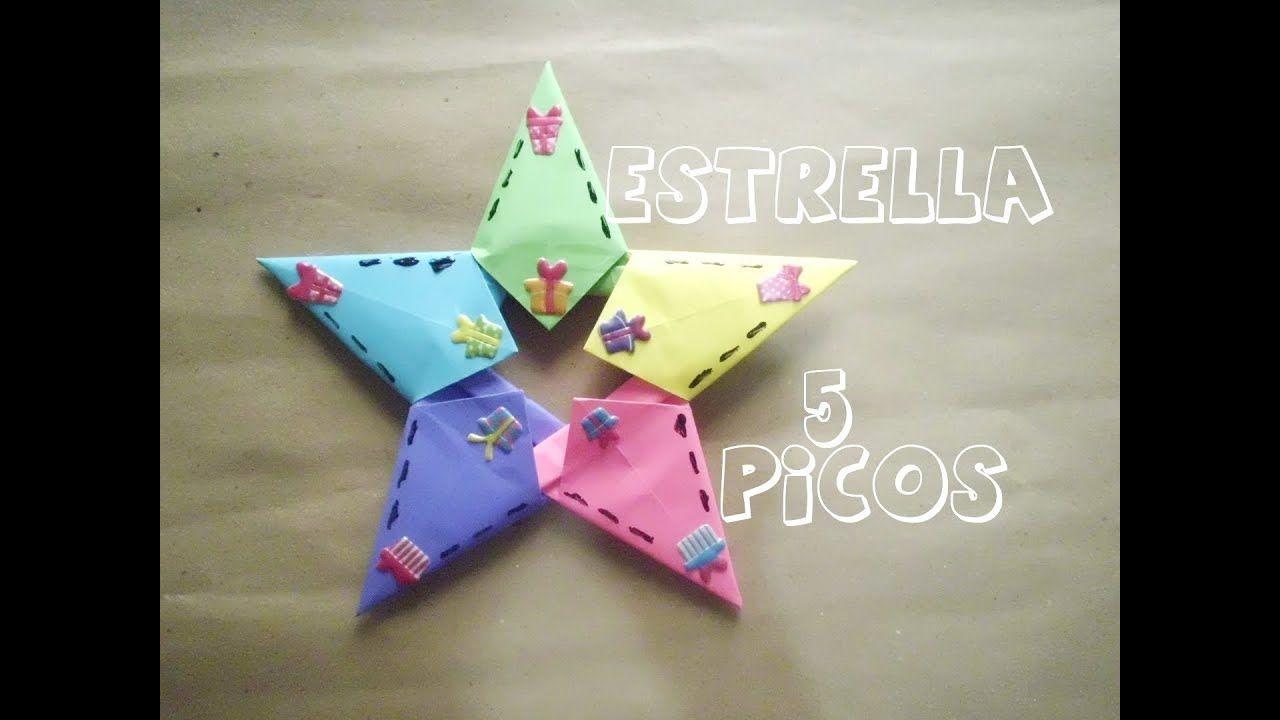 Estrella De Papel 5 Picos Estrellas De Papel Estrellas De Origami Manualidades