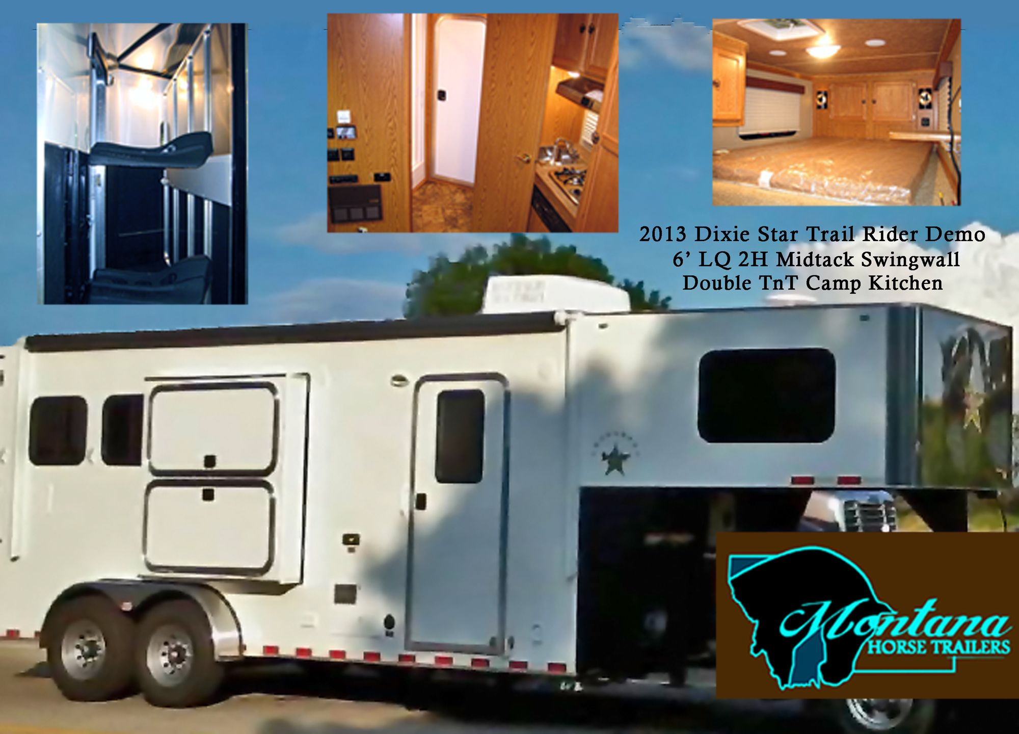 Custom 6 Living Quarters Gooseneck 2 Horse Trailer For Sale No Need To Break The Bank On An Equine M Horse Trailers Horse Trailers For Sale Trailers For Sale
