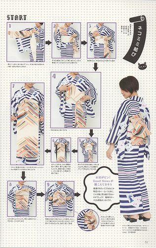 Kimono Kitsuke clip  easy to wear  NEW Re