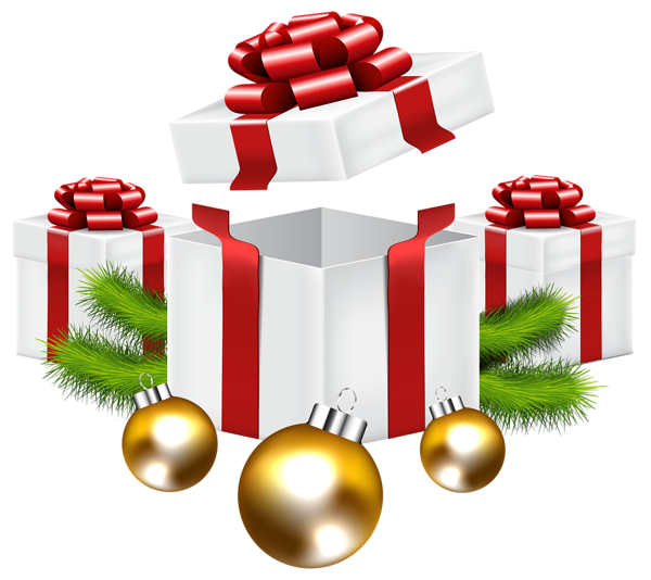 Christmas Gifts Png Clip Art Image Christmas Labels Christmas Tree With Presents Clip Art