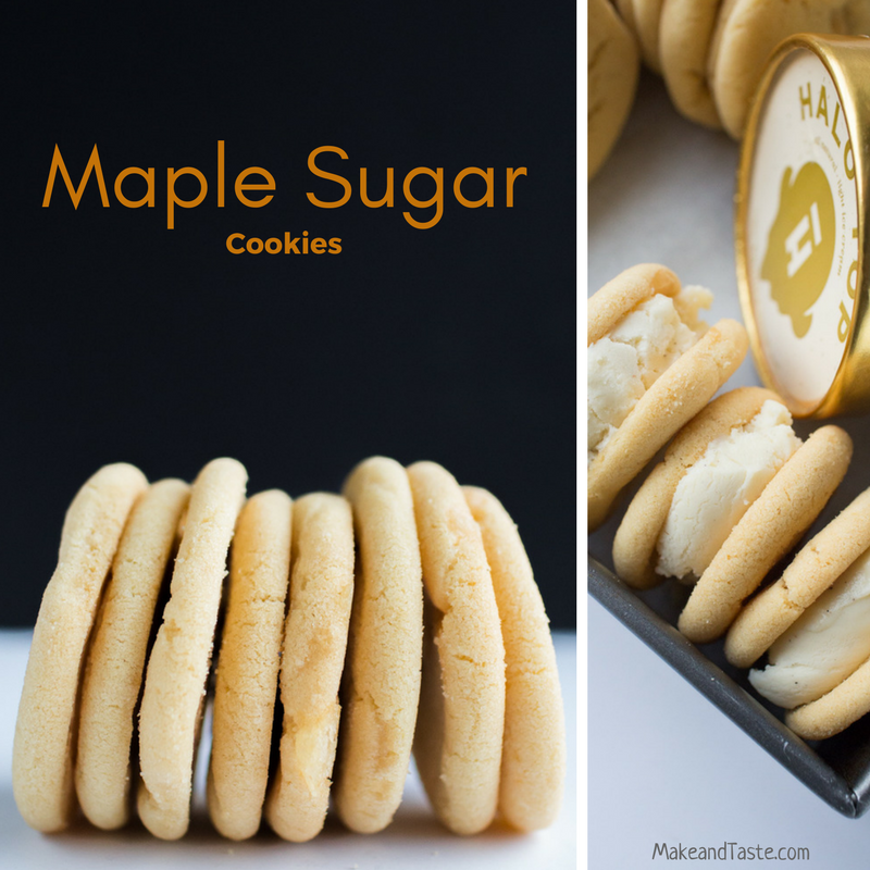 Maple Sugar Cookies. Made with both maple syrup and maple sugar candy! Bake these with your little kitchen helper today!