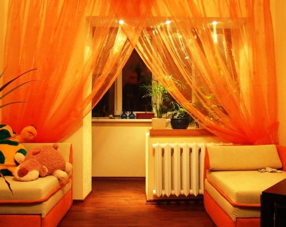 Stylish Burnt Orange Sheer Curtains Window Treatments