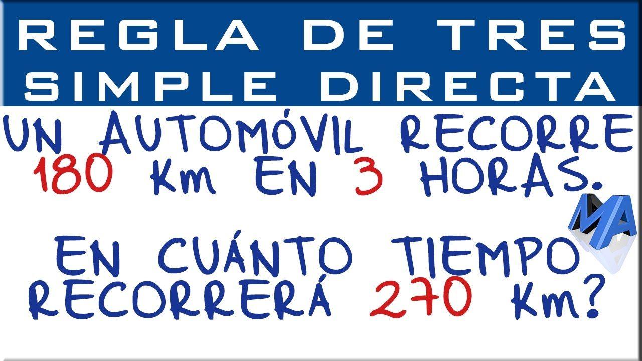 Regla De Tres Simple Directa Ejemplo 1 Regla Herramientas De Medición