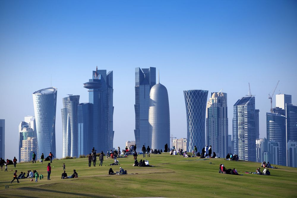 Museum of Islamic Arts Park in West Bay, Doha.