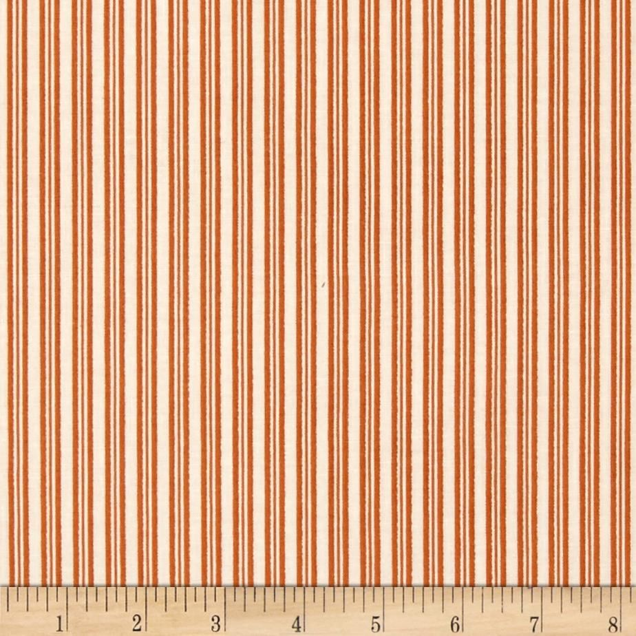 Riley Blake Lost & Found Halloween Stripes Orange from @fabricdotcom  Designed by Jen Allyson for Riley Blake Designs, this cotton print fabric is perfect for crafts, quilting, apparel and home décor accents. Cream with orange stripes.