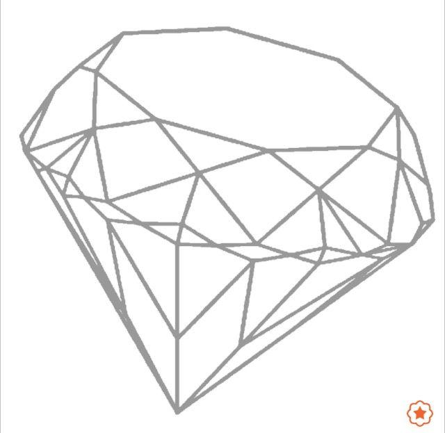 Coloriage diamant facile toutes mes publications - Diamant dessin ...