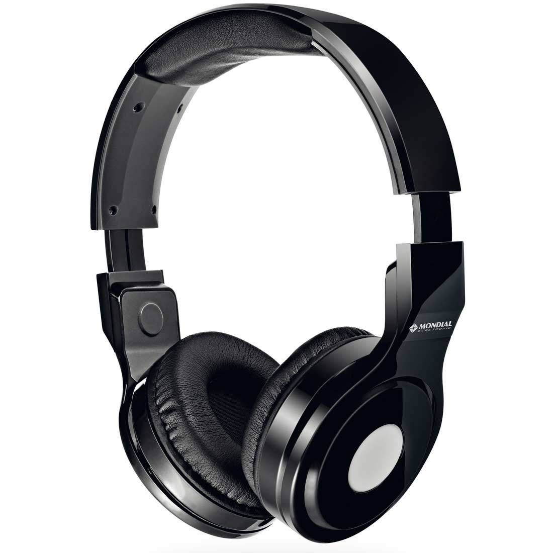 Fone de Ouvido Headphone Mondial Dobravél Branco HP-01