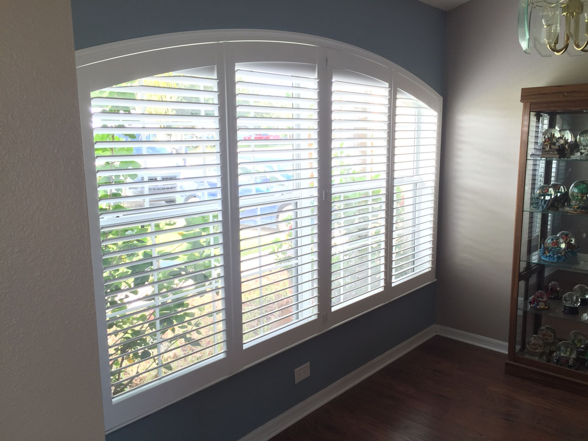custom plantation shutters for arched windows available at budget blinds of clermont - Custom Plantation Shutters
