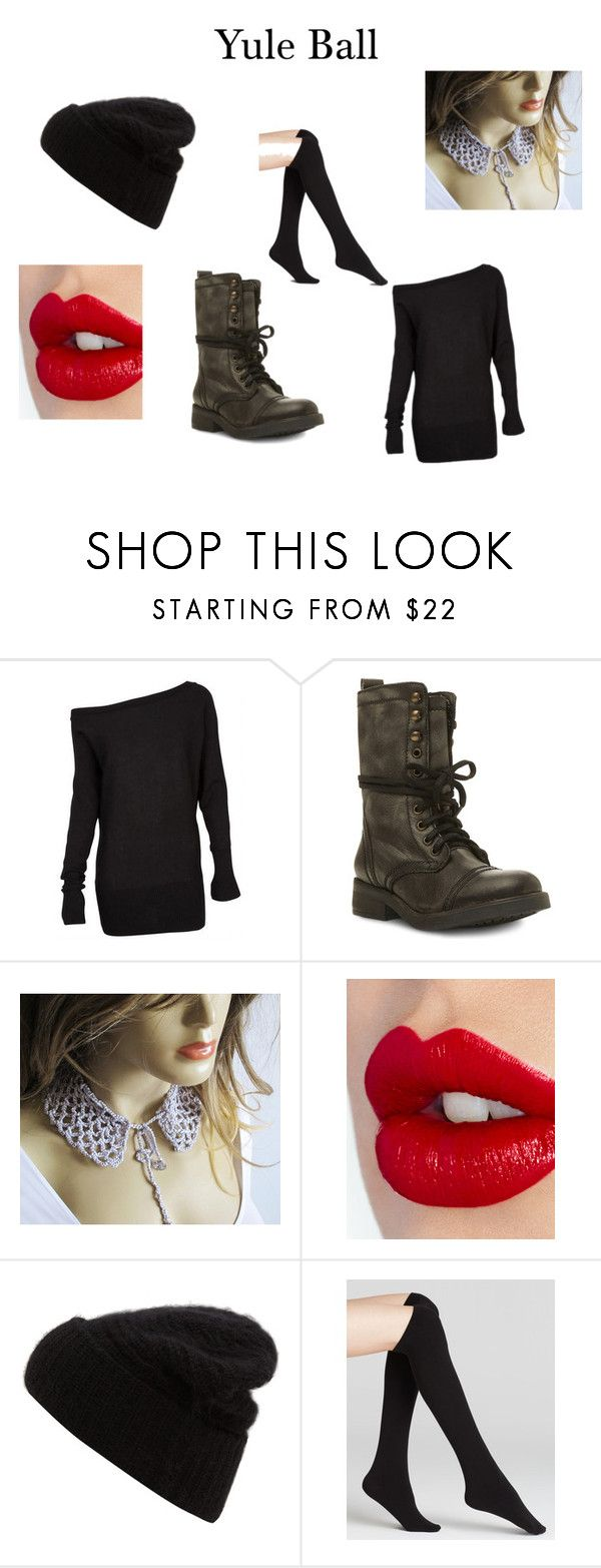 """""""Yule ball"""" by curlyxox ❤ liked on Polyvore featuring Steve Madden, Charlotte Tilbury, Acne Studios, Plush and harrypotter"""