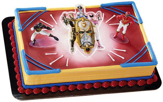 Power Rangers Mega Force Cake Decorating Kit Decoration Topper Birthday Supplies