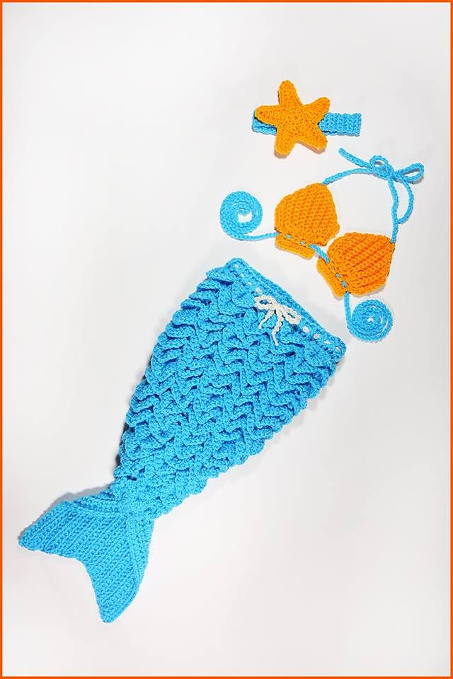 Baby Mermaid Outfit pattern by Nadia Fuad | Mermaid outfit ...