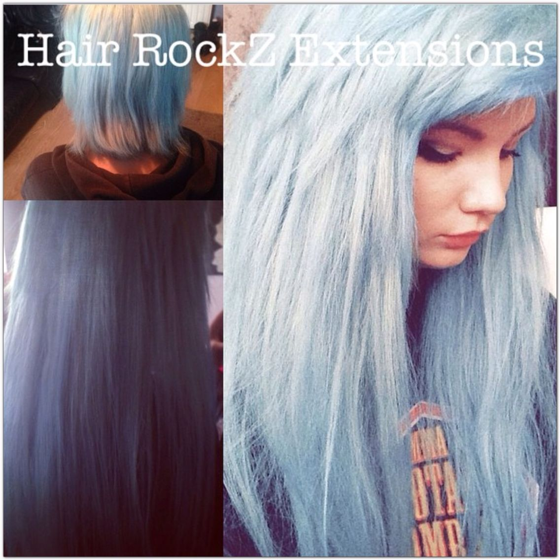 Blue Hair Micro Bead Micro Loop Hair Extensions Sunderland Durham