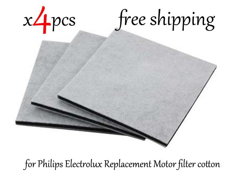4 Stks/partij Stofzuiger HEPA Filter voor Philips Electrolux Vervanging Motor filter katoen filter wind luchtinlaat outlet fIlter
