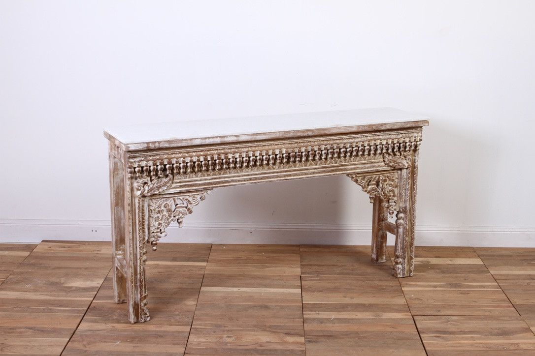 IFU0317-56 Heritage Console with Marble Top
