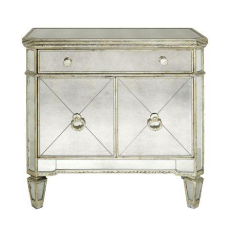 Borghese Mirrored Nightstand Mirrored Furniture