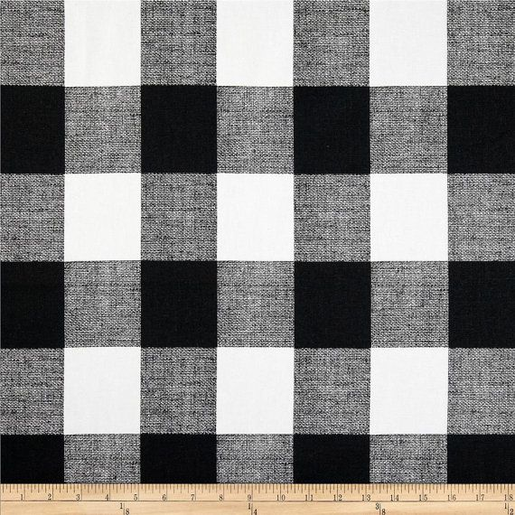 FREE SHIPPING! Anderson Designer Buffalo Check Curtains Black and White
