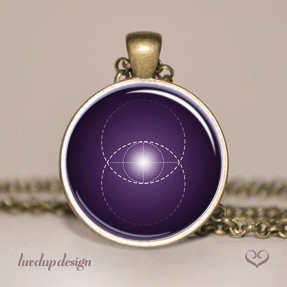 Eye of Consciousness Pendant, Vesica Piscis Necklace, Sacred Geometry Jewellery